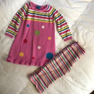 Children's place two piece pink red blue yellow